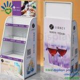 Bebidas derechas libres de las bebidas de los tallarines de la visualización de la promoción del hierro del metal del supermercado para las ventas