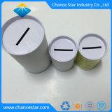Carton de papier imprimé personnalisé Coin Tube avec couvercle de métal