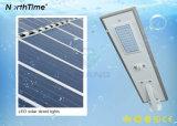 IP65 Bridgeluxのオールインワン太陽街灯はリチウム電池を欠く