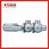 SS304 de sanitaire Klep van de Afleidingsactie van het Type van Metalen kap 3-Way Pneumatische