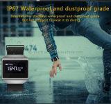 IP67は歩数計のBluetoothのスポーツの腕時計のリスト・ストラップが付いているスマートなブレスレットを防水する