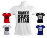 100% algodão de manga curta de lazer T-shirt para as mulheres com impressão