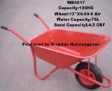 Wheelbarrow pneumático de aço do edifício da roda
