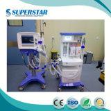 China-zuverlässiger Ausrüstungs-Lieferanten-Multifunktionskrankenhaus-Respirator-Anästhesie-Maschine mit dem 10.4 Zoll-Bildschirm S6100d