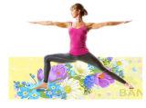 De duurzame Kleur Afgedrukte Mat van de Yoga, Wasbare Machine