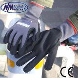 Nmsafety 15g нейлон и спандекс нитриловые перчатки работы с покрытием из пеноматериала