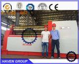 Machine de plaque du rouleau W12S-4X3000 4 de dépliement en acier et de roulement