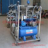 牛ヒツジのヤギの農場のための4つのバケツの移動式搾り出す機械