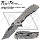 """4.5 """" 닫히는 봄은 주머니 칼, 매일 강철 손잡이가 접히는 칼을 전송하는 S.를 지원했다: 4pn89-45swa"""
