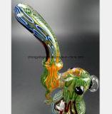 Grünes Muster-Glas-Rauch-Rohr Filter-Tabak Rohr aufbereitend