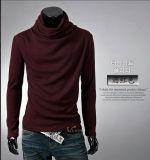 Novo design do homem Turtleneck Borders suéter