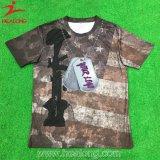 Les chemises des hommes faits sur commande de sublimation de la livraison rapide de qualité de Hight