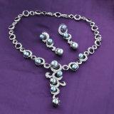 Роскошный имитация черного жемчуга валики Earring моды и ожерелья Набор ювелирных изделий