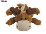 Brinquedo macio do animal de estimação do urso do Natal do luxuoso de Squeakly como o presente agradável para o cão e o gato Bosw1085/16cm