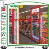 Loja Gocery Gondola prateleiras dos supermercados com a promoção da estrutura da porta