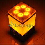 9pcs 14W Rgbawuv inalámbrica pequeñas luces LED con batería