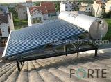 Calefator de água solar eficiente elevado da baixa pressão de câmara de ar de vácuo do aço inoxidável
