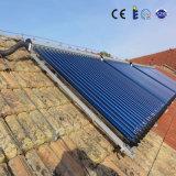 L'eau active de la chaleur de 36 panneaux solaires de tube