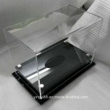 La coutume en acrylique transparent DE SOCCER / FOOTBALL BASKET-BALL// Boîte d'affichage à billes