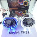 35W HID Bi-Xenon Projector Lens Angel Eyes Light para carro / motocicleta