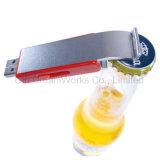 Abrelatas de botella con deslizar el mecanismo impulsor de destello del USB