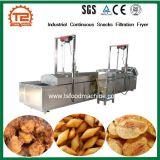 Lanches contínuo industrial fritadeira fritadeira filtração contínua