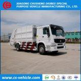 HOWO 6-speculant 8tons de Vrachtwagen van de Pers van het Huisvuil van de Vuilnisauto 12m3