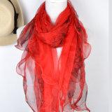 Impresos digitales crepe de seda bufanda Georette