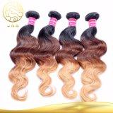 安い卸し売りバージンのRemyブラジルの人間カラー毛