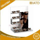 Cas d'exposition clair moderne fait sur commande de lunettes de soleil de lunetterie de compartiment de l'acrylique 6