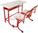 Escritorio y silla durables del doble del estudiante de los muebles de escuela del nuevo diseño 2017