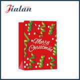 2016 papel laminado laminado brillante bolsa de papel de regalo de compras de Navidad
