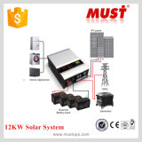 태양계 4kw 6kw8kw10kw 12kw를 위한 MPPT 태양 관제사를 가진 격자 잡종 태양 변환장치 떨어져