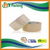 アクリルの付着力の黄色がかったOPPのパッキングテープの最もよい品質