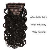 El cabello humano 100% de la onda de cuerpo Clip Hair Extension (AV-CH140-22-2)