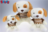 t-셔츠 Bos1182를 가진 도매 최고 연약한 채워진 개 동물성 장난감