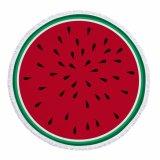 Esteiras redondas da praia de Microfiber do projeto das frutas para a venda por atacado