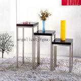 까만 대리석 테이블 널에 의하여 주문을 받아서 만들어지는 스테인리스 다리 꽃 테이블