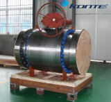 Válvula de esfera montada no tronco