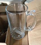De Kop van het Bier van het glas met Glaswerk sdy-J0057 van de Prijs van het Handvat het Goede