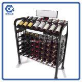 Cremagliera di visualizzazione su ordinazione del vino della barra del pallet del metallo