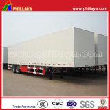 Tri-Axle semi seco Van semi reboque para transporte de carga