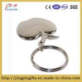 De mooie zilveren-Gestemde Charme Keychain, de Zilveren Charme van de Appel, Rugzak Keychain, de Beste Gift van de Charme van de Vorm van de Appel Keychain, het Embleem van de Appel, Herinnering Keychain. van de Appel
