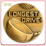Moneta di sfida placcata oro su ordine del pezzo fuso per il ricordo