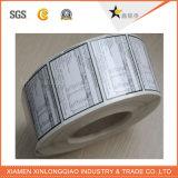 Etiqueta autoadesiva de papel impermeável transparente personalizada da impressão da etiqueta do PVC