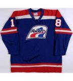 Abitudine blu bianca di Wayne Gretzky 18 Brian Coates di Wha Indianapolis dei corridori delle donne su ordinazione 99 del Mens qualsiasi nome qualsiasi pullover poco costoso del hokey di ghiaccio di no.