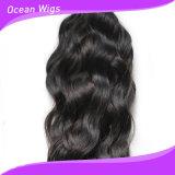 Da onda italiana brasileira humana da extensão do cabelo de Remy do Virgin cabelo 100% humano (W-024)