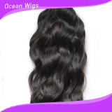 Jungfrau menschliche brasilianische Remy Haar-Extensions-italienisches Wellen-Menschenhaar 100% (W-024)