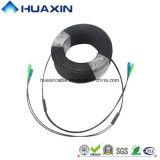 Cuerda de corrección óptica del cable de gota de fibra de la cuerda de corrección del solo modo FTTH