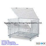 Steel Wire Mesh Bin Warehouse Storageのためのスタック可能及びCollapsible